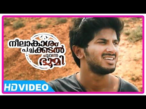 Neelakasham Pachakadal Chuvanna Bhoomi Movie | Scenes | Dulquer's bike breaks down | Sunny