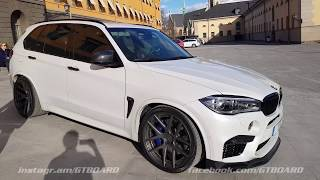 "[4k] Mineral White BMW X5 M ""Bimmers of Sweden"" in Stockholm, Sweden. Great familycar and SOUND!"