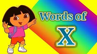 Words of 'X'. X चे शब्द.Created by -Godavari Tambekar