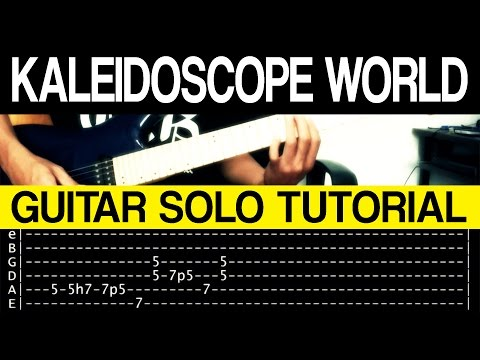 Kaleidoscope World - Francis M GUITAR SOLO Tutorial (WITH TAB)