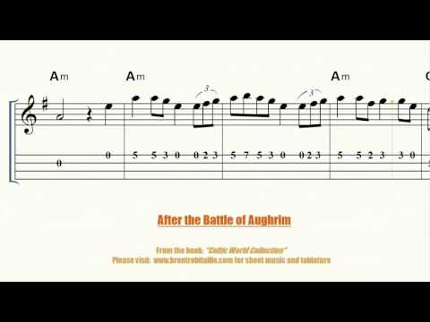 Mandolin - Violin - After the Battle of Aughrim Sheet Music Tablature Chords