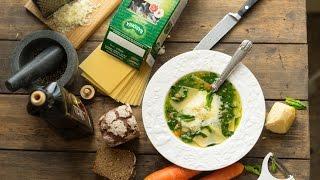 Суп со шпинатом и пастой