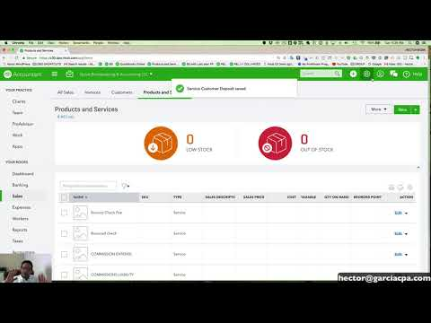 Quickbooks Online 2018 Tutorial: Client Retainers, Deposits, and Pre-Payments