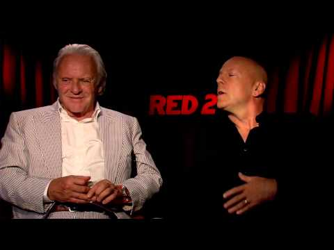 Bruce Willis & Anthony Hopkins' Official 'Red 2' Interview