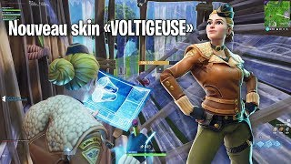 """PRESENTATION OF NEW SKIN """"VOLTIGEUSE"""" ON FORTNITE! (Massacre with the new sword)"""