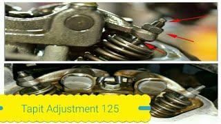 how to adjust valve clearance of 125 bike 125 بائیک کے ٹیپٹ کی ایڈجسٹمنٹ خود کریں۔