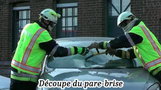 Exercice de désincarcération par les Sapeurs-Pompiers du poste de Basècles 09/2017