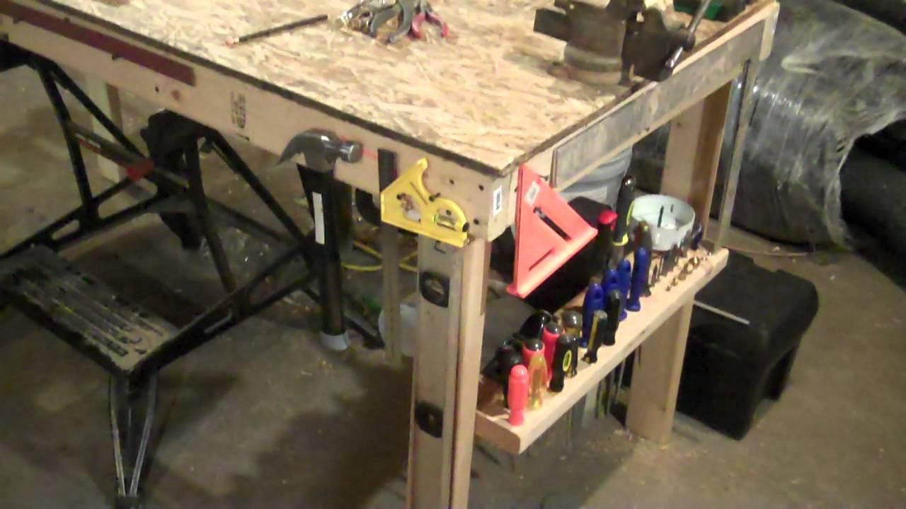 My basement workshop youtube for Basement workshop plans