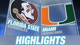Florida State vs Miami | 2014 ACC Football Highlights