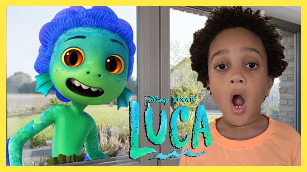 LUCA SEA MONSTER IN MY HOUSE! Disney Pixar's Luca The Movie In Real Life
