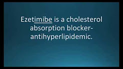 How to pronounce ezetimibe (Zetia) (Memorizing Pharmacology Flashcard)