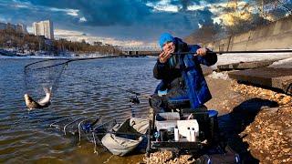 Рыбалка на фидер весной Поиск места ловли в начале весны Рыбалка 2021 4K HDR
