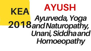 AYUSH course option entry KEA 2018 released