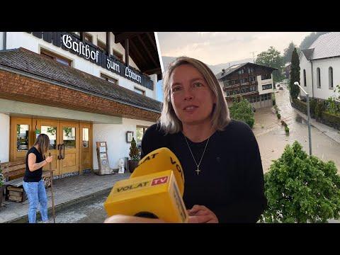 Lingenau nach Überflutung: