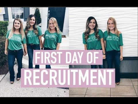 FIRST DAY OF RECRUITMENT & GETTING READY
