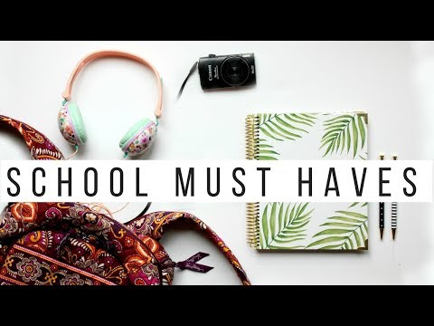 WHATS IN MY BACKPACK! | Back To School + Work Essentials 2017 | GIVEAWAY
