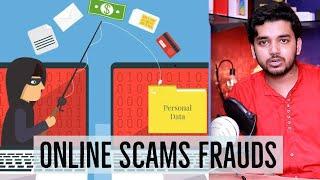 Online Scams, Fraud, Cheating, Phishing, Stay Safe Beware of Scammers | Janhit me Jaari