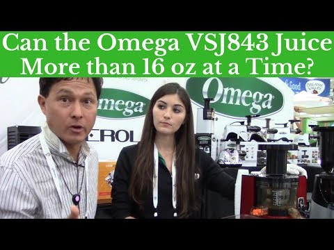 Can the Omega VSJ843 Juice More than 16oz at a Time?