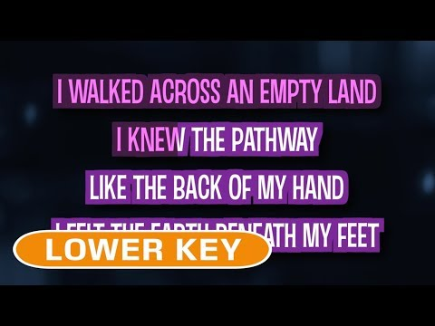 Somewhere Only We Know (Karaoke Lower Key) - Lily Allen
