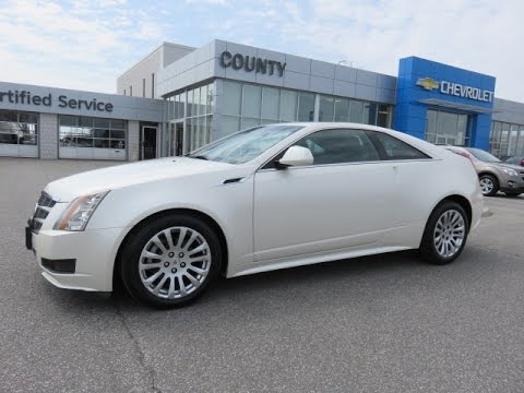2017 Cadillac Cts Awd Performance Coupe White Diamond Tricoat