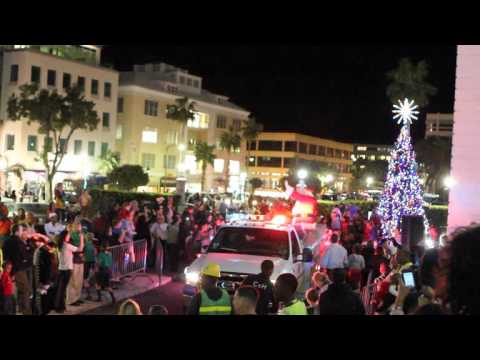 Santa At Tree of Lights - Lighting Ceremony Bermuda November 25 2011