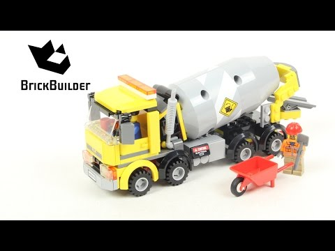 Lego City 60018 Cement Mixer Lego Speed Build Youtube