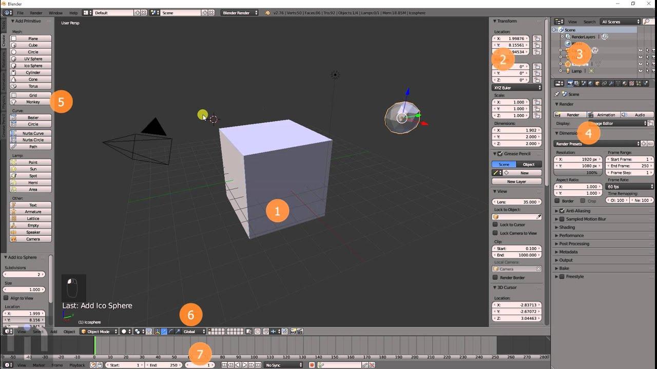 Blender Introduction Tutorial #001 The Basics