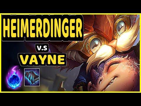 TYLER1 (HEIMERDINGER) vs VAYNE - BOTTOM ADC GAMEPLAY - NA Ranked GRANDMASTER