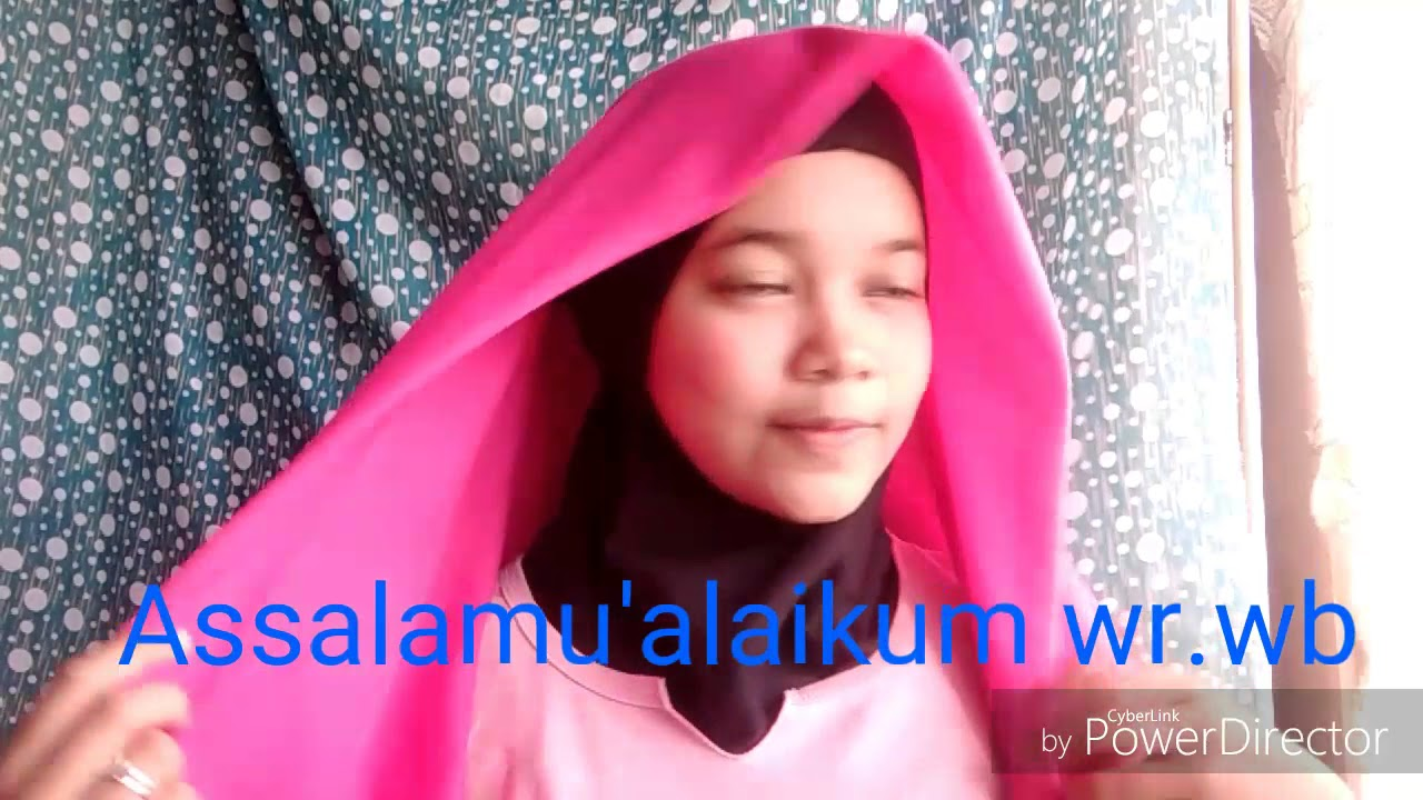 tutorial hijab remaja simple par 1 - youtube