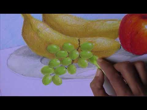 prints of fruits and vegetables   veg printing   oil pastels   online classes