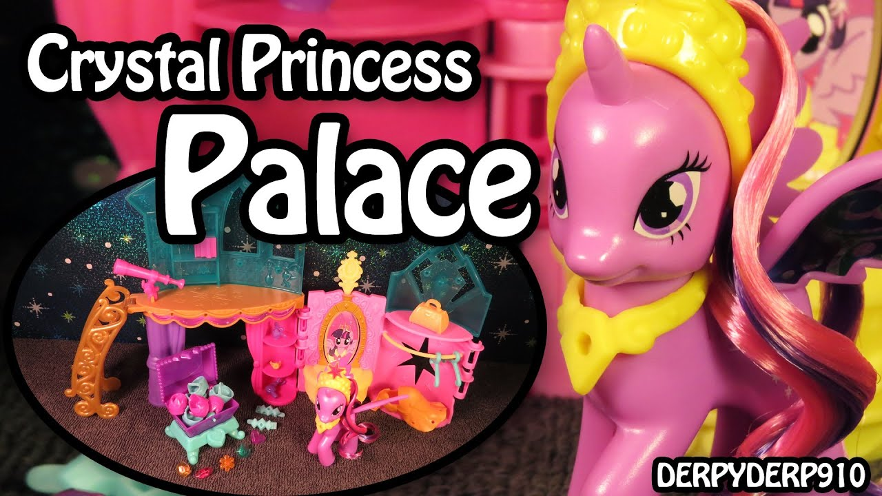 my little pony crystal rainbow castle how to open