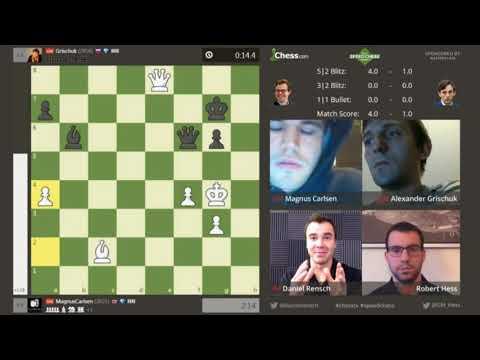 Magnus Carlsen vs Alexander Grischuk  Speed Chess Championship 2017 Semifinal (part 3)