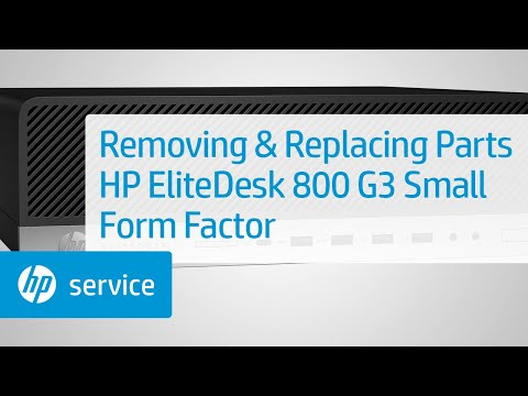 Service Teardown: HP EliteDesk 800 G3 Small Form Factor PC | HP Computer Service | HP