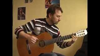 """""""Лугом іду, коня веду""""  (аранжировка на гитаре В.Трощинков) уроки гитары Киев и Скайп"""