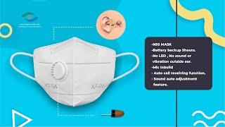 MICSPY hidden earpiece  | Spy earphone with GSM Face mask - Model KFS0012 | Original Kspyworld Brand