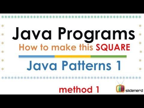 55 Java Program Patterns Square Method 1 | - YouTube