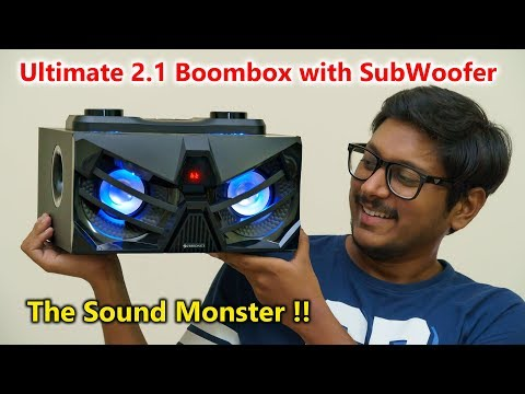 Powerful 2.1 Boombox with built in Subwoofer...
