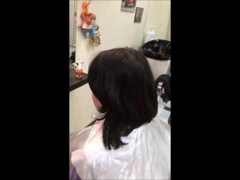 Окрашивание из черного в русый коричнево -медный с применением техники Калифорнийского мелирования