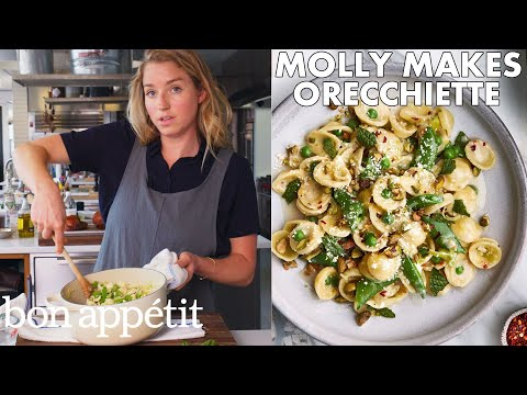 Molly Makes Orecchiette with Buttermilk, Peas and Pistachios | From the Test Kitchen | Bon Appétit