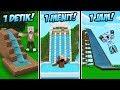 WATERPARK 1 DETIK VS 1 MENIT VS 10 MENIT DI MINECRAFT!