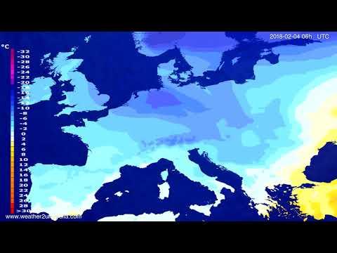 Temperature forecast Europe 2018-02-01