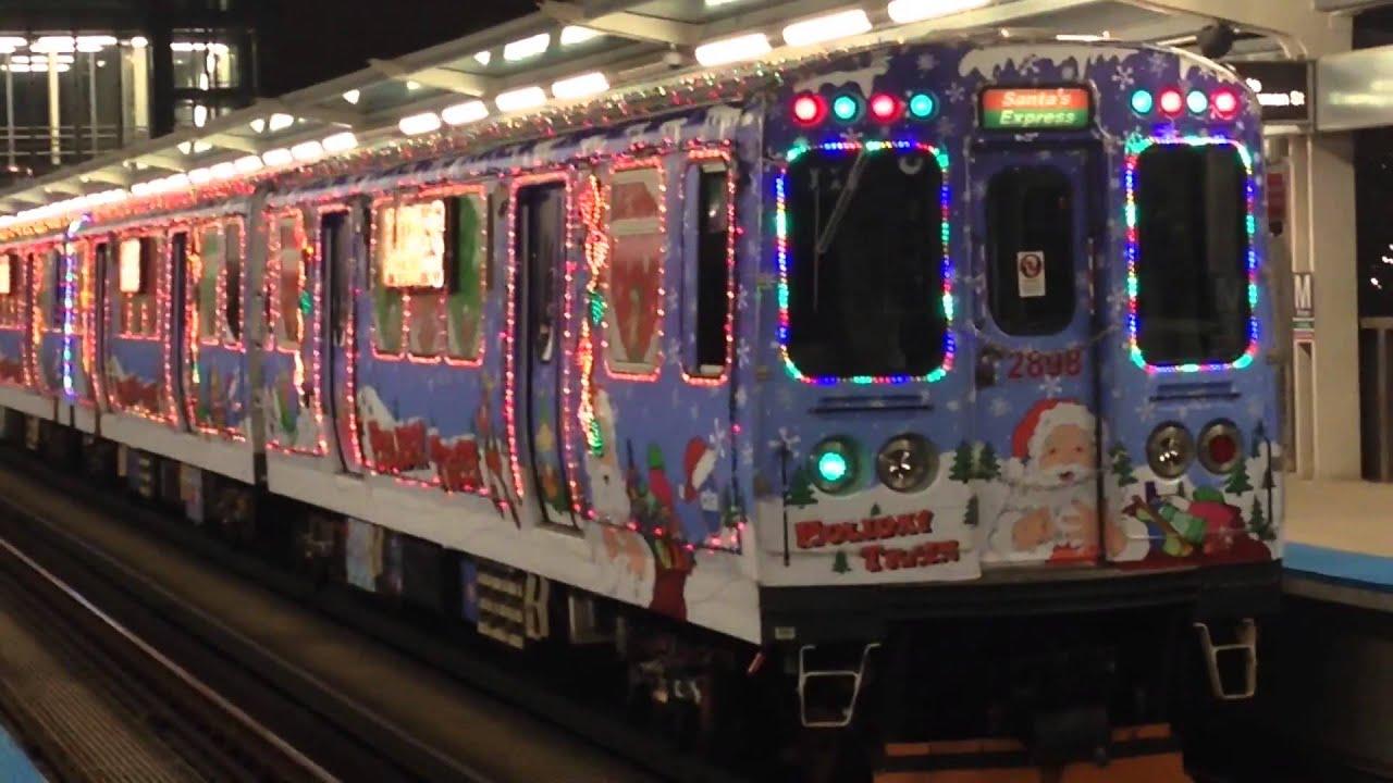 the 2014 cta holiday train at morganlake - Cta Christmas Train 2014