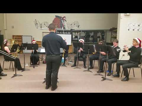 Christmas carols by a high school concert band. Saint Stephens High School Hickory NC.