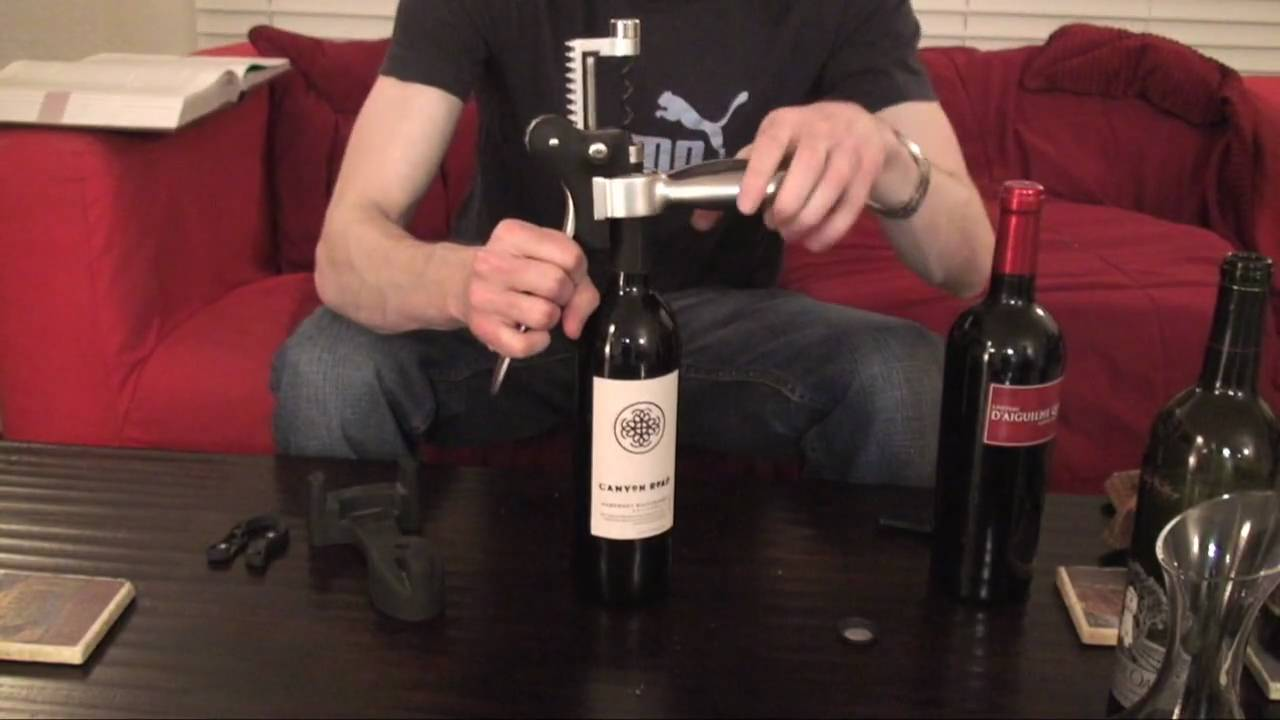 7 how to open a bottle of wine with a lever style for How to preserve wine after opening bottle