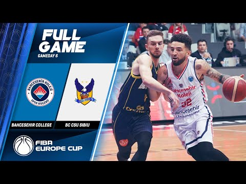 Bahcesehir College  V  BC CSU Sibiu - Full Game - FIBA Europe Cup 2019-20