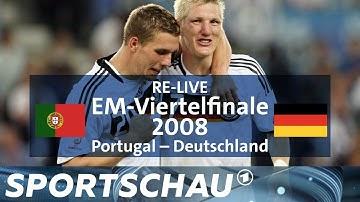 Podolski und Schweinsteiger im Viertelfinale der EM 2008 gegen Portugal   Sportschau