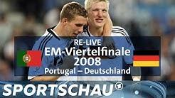 Podolski und Schweinsteiger im Viertelfinale der EM 2008 gegen Portugal | Sportschau