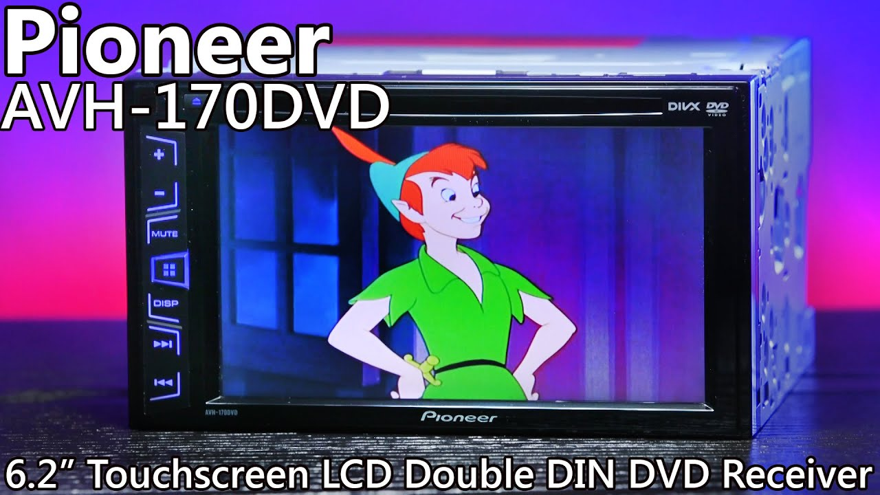 Pioneer Avh 170dvd Double Din Dvd Reciever 62 Touchscreen Lcd 3100