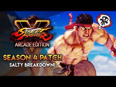 THE SALTIEST SEASON 4 BREAKDOWN ON YOUTUBE! (Street Fighter V Arcade Edition)