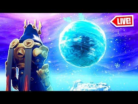 The ICE STORM EVENT RIGHT NOW in Fortnite! - POLAR PEAK SPHERE EVENT! (Fortnite Battle Royale LIVE) thumbnail